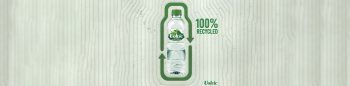 100% RPET WATER BOTTLE REDUCES CO2 EMISSIONS